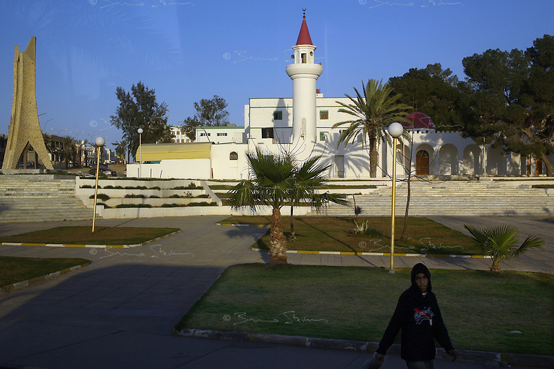 Tarhouna, Libya, March 23, 2011.In this image taken during an organized trip by the Libyan authorities, the center of this town, about 100km south east of Tripoli lies almost empty as civilians  have endured more than a week of attacks and a punishing blockade.