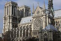 Nave, Notre Dame de Paris, 1163 ? 1345, initiated by the bishop Maurice de Sully, Ile de la Cité, Paris, France. Picture by Manuel Cohen