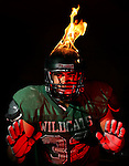 HSIDCOVERPAGE3ripA.jpg (Note: This is a photo illustration. Please keep dark and contrasty).(09/20/06, Twentynine Palms, Sports) Jason Luke, a senior linebacker at Twentynine Palms High School is on fire right now making great plays at his position. (The Press-Enterprise/Photo illustration by Rodrigo Pena)