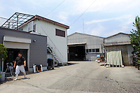 Entrance to Maruse Stockbreeding Inc, Hyogo Prefecture, Japan, June 25, 2009.