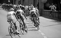 Giro d'Italia stage 13.Savano-Cervere: 121km..cornering out of Ceva