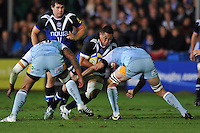 Anthony Perenise goes on the charge. Aviva Premiership match, between Bath Rugby and Northampton Saints on September 14, 2012 at the Recreation Ground in Bath, England. Photo by: Patrick Khachfe / Onside Images