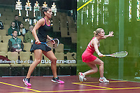 Emma Bedoes (ENG) vs. Joelle King (NZL) in the women's quarterfinals of the 2014 METROsquash Windy City Open held at the University Club of Chicago in Chicago, IL on March 1, 2014