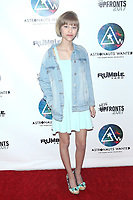 NEW YORK, NY - MAY 10: Singer-Songwriter Grace VanderWaal at Astronauts Wanted and Rumble Yard Joint 2017 New Front Presentation at SONY Headquaters on  May 10, 2017 in New York City. Credit: Diego Corredor/MediaPunch