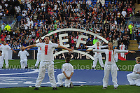 Cardiff City Stadium, Cardiff, South Wales - Tuesday 12th Aug 2014 - UEFA Super Cup Final - Real Madrid v Sevilla - <br /> <br /> Pre match entertainment<br /> <br /> <br /> <br /> <br /> Photo by Jeff Thomas/Jeff Thomas Photography