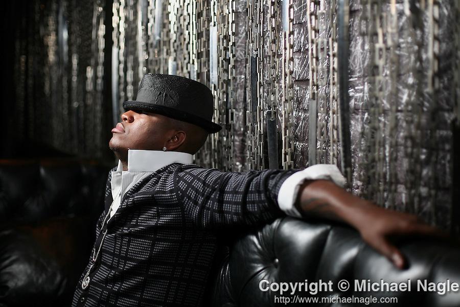 NEW YORK - SEPTEMBER 08, 2008:   Singer Ne-yo poses for a portrait at the Kobe Club on September 08, 2008 in New York City.  (PHOTOGRAPH BY MICHAEL NAGLE)