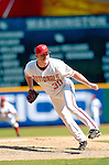 5 September 2005: Mike Stanton, pitcher for the Washington Nationals, on the mound against the Florida Marlins. The Nationals defeated the Marlins 5-2 at RFK Stadium in Washington, DC, maintaining a close race for the NL Wildcard spot. Mandatory Photo Credit: Ed Wolfstein.