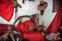 Witchdoctor Rosario Augusto (33) became possessed by two spirits at the same time in 2000. Rosario has three wives and he is the chief of Kaprizandi region's Mozambican traditional healer's association AMETRAMO.