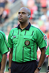 19 June 2015: Referee Brandon Artis. The Portland Thorns FC hosted FC Kansas City at Providence Park in Portland, Oregon in a National Women's Soccer League 2015 regular season match. The game ended in a 1-1 tie.