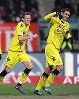 FUSSBALL   1. BUNDESLIGA  SAISON 2011/2012   20. Spieltag 1. FC Nuernberg - Borussia Dortmund         03.02.2012 JUBEL nach dem TOR zum zum 0:1 Kevin Grosskreutz (li,) mit Sebastian Kehl (Borussia Dortmund)