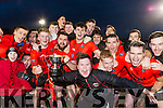 The Glenbeigh/Glencar team celebrates  after defeating Gabrel Rangers in the Munster Junior cup final in Mallow on Sunday