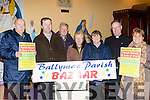 Parish Needs<br /> ------------------<br /> Keep November 27th and 28th in your mind as the annual Ballymac parish fundraiser Bazaar is taking place in the community hall with loads to be won. Pictured at Clogher church last Friday evening are the organisers, L-R Tony O'Riordan, Fionn&aacute;n Fitzgerald, Con Crowley, Mary McCarthy, Nell O'Connell, Fr Pat Crean-Lynch&amp;Florence Ahern.