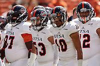 STILLWATER, OK - SEPTEMBER 19, 2015: The Oklahoma State University Cowboys defeat the University of Texas at San Antonio Roadrunners 69-14 at the Boone Pickens Stadium. (Photo by Jeff Huehn)