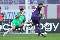 FLORENCE, Italy: October 20, 2013: AC Fiorentina beats FC Juventus 4-2 during the Serie A match played in the Artemio Franchi Stadium. Joaquin scoring the goal of 3-2