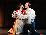 2005 - THE MARRIAGE OF FIGARO - Together again after 2002's Don Giovanni, Sari Gruber (Susanna) and Kyle Ketelsen (Figaro) in the opening scene of Opera Pacific's production of 'The Marriage of Figaro'.