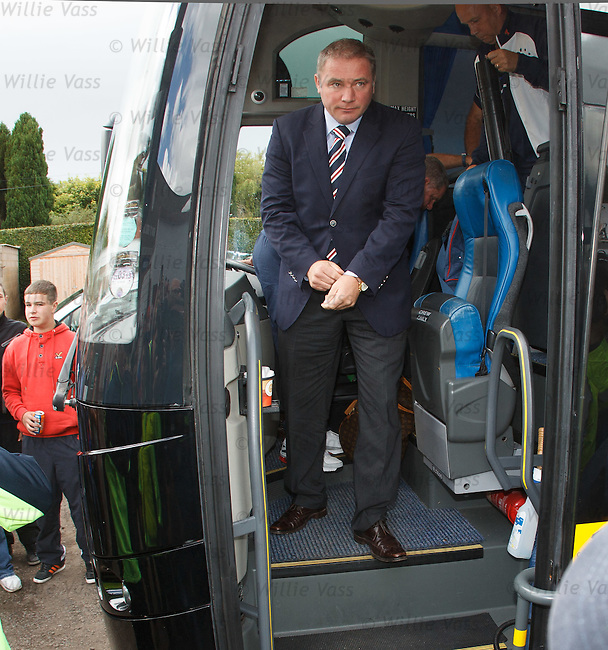 Ally McCoist first off the team bus
