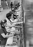 "Brooklyn, April 14th, 1974 - The last of the original AT&T switchboard operators of which 98% were women as they were believed to be more polite than men. They provided information and helped customers with long distance calls. The next day, the old ""corded"" switchboards were replaced with the more technologically advanced TSPS system."