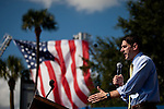 Republican vice presidential candidate Rep. Paul Ryan speaks at a campaign rally in Ocala, Florida, October 18, 2012.