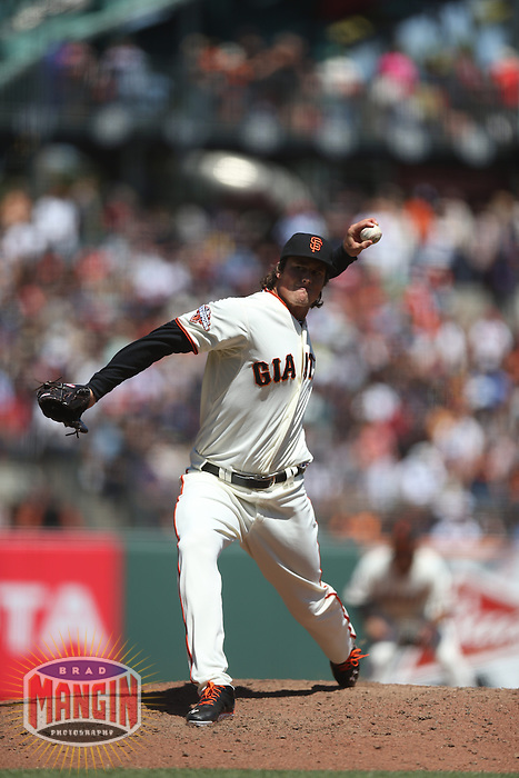 SAN FRANCISCO, CA - AUGUST 21:  Mike Kickham #59 of the San Francisco Giants pitches against the Boston Red Sox during the game at AT&T Park on Wednesday, August 21, 2013 in San Francisco, California. Photo by Brad Mangin