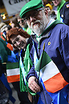 March 16, 2013 - New York, NY, U.S. - At the 252nd annual NYC St. Patrick's Day Parade, thousands of marchers show their Irish pride, as they march up Fifth Avenue, and over a million people, often in green and orange, watch and celebrate. Those marching, many who wore kilts, uniforms, colorful costumes, sashes, included Bag and Pipe Bands; Irish dancers; fire, police, military, religious, educational, and social groups.