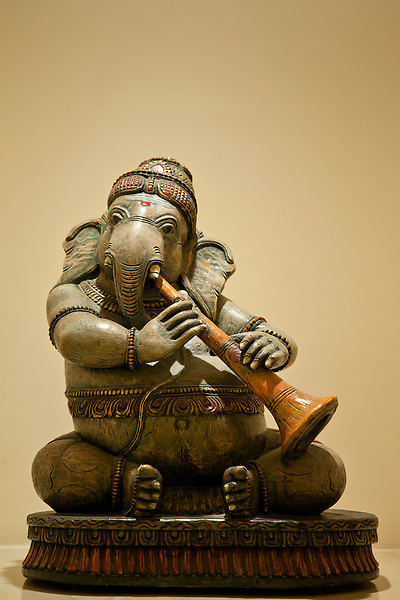 Iconic Ganesha Hindu elephant statue in The Imperial Hotel, New Delhi, India
