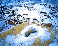Pueblo Bonito in snow, Chaco Culture National Historical Park, New Mexico
