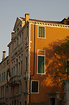 Italian buildings with evening sunlight