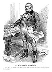 """A Non-Party Mandate. John Bull. """"I don't care who leads the country so long as he leads it to victory."""""""