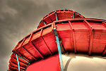 Red helterskelter at fairground