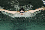 An undentified swimmer competes in the 2007 Rhode Island Girl's Championship