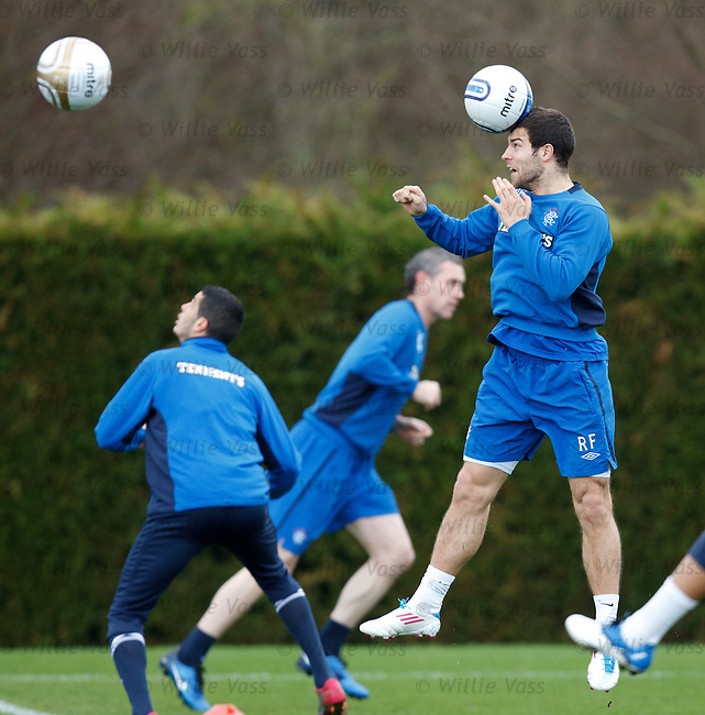 Richard Foster gets in some ballwork during training