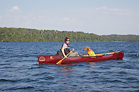 Daisy and Dawn enjoy a leisurely paddle on Agnes Lake with a tailwind.
