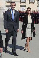 Spanish Royals wecome Colombia´s President