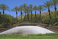 Massive water feature with monument landscaping