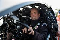 May 31, 2013; Englishtown, NJ, USA: NHRA pro mod driver Mike Janis during qualifying for the Summer Nationals at Raceway Park. Mandatory Credit: Mark J. Rebilas-