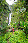 Greg Solatorio, Halawa Valley Falls Cultural Hike, Mo'oula Falls, Molokai, Hawaii, USA