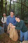 David & Jean Transfering Possum From Trap