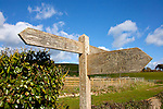 War Horse, Landscape, Bridleway Sign, Tennyson Down,Chalk Cliffs, Freshwater Bay, Compton Bay, Compton Farm, Brook Down, Isle of Wight, England, UK, Photographs of the Isle of Wight by photographer Patrick Eden