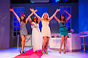 London, UK. 17.07.2013. WAG! THE MUSICAL, starring real-life ex WAG, Lizzie Cundy, current WAG, Pippa Fulton and Ariadne the Greek WAG, opens at the Charing Cross Theatre. Picture shows: Nia Jermin (Charmaine), Alyssa Kyria (Ariadne), Pippa Fulton (Vicci) and Lizzie Cundy (Zoe). Photograph © Jane Hobson.