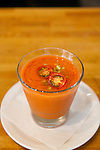 Andaluz Restaurant in Salem Oregon.  The Tomato-cucumber gazpacho