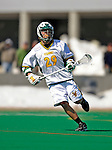 23 March 2008: University of Vermont Catamounts' Kyle Hann, a Freshman from Potomac, MD, in action against the Bellarmine University Knights at Moulton Winder Field, in Burlington, Vermont. The Catamounts defeated the visiting Knights 9-7 at the Vermont home opener...Mandatory Photo Credit: Ed Wolfstein Photo