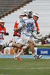CHAPEL HILL, NC - APRIL 28: Ryan Creighton #33 of the North Carolina Tar Heels playing the Virginia Cavaliers on April 28, 2013 at Kenan Stadium in Chapel Hill, North Carolina. North Carolina won the ACC Championship with a 16-13 win. (Photo by Peyton Williams/Getty Images) *** Local Caption *** Ryan Creighton