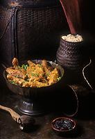 Asie/Laos/Luang-Prabang: Bambous farcis du Palais Royal  recette  d'un cuisinier de la famille royale réalisée au restaurant  : Villa de la Princesse
