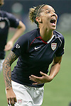 Oct 13 2007:   Natasha Kai of the USA.  The US Women's National Team defeated Mexico 5-1 at the Edward Jones Dome in St. Louis on October 13th in their first of three expo matches.