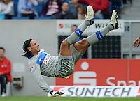 FUSSBALL  1. BUNDESLIGA  SAISON 2012/2013  2. SPIELTAG    01.09.2012 TSG 1899 Hoffenheim  - Eintracht Frankfurt Torwart Tim Wiese (TSG 1899 Hoffenheim) in der Luft