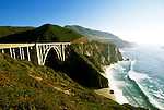 California: Monterey Region.  Bixby Bridge in Big Sur.  Photo #: camon3104..Photo copyright Lee Foster, 510/549-2202, lee@fostertravel.com, www.fostertravel.com