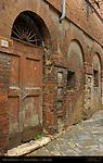 Medieval Doorway, Via di San Marco, Siena, Italy