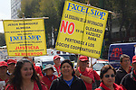 Former cooperative workers of the Excelsior newspaper stage a rally to protest the dispossession of the newspaper at the hands of Olegario Vázquez Raña during the Presidency of Vicente Fox in 2006 in a Mexico city's main thoroughfare, November 14, 2012. Photo by Heriberto Rodriguez