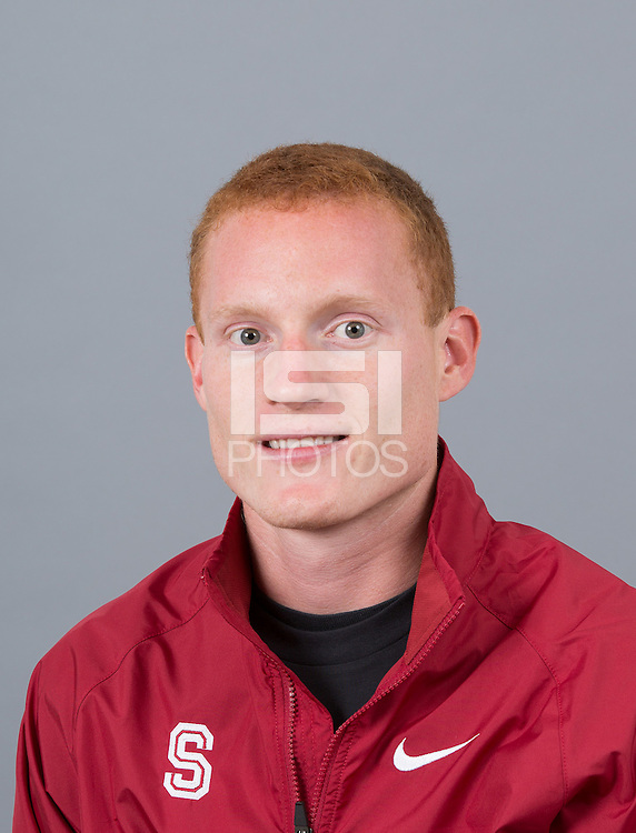 STANFORD, CA - SEPTEMBER 24, 2014--Joe Rosa, with Stanford University Cross Country Team