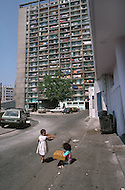 May 1989, Marseilles, France --- Typical South Marseille low income housing: Cite Felix Pyat, Quartier St. Mauront --- Image by © JP Laffont